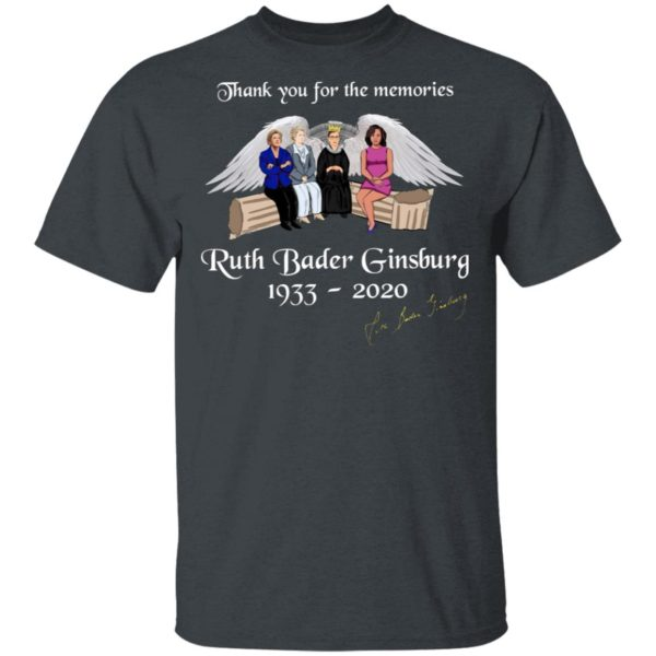 Thank You For The Memories Ruth Bader Ginsburg 1933-2020 T-Shirt