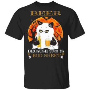 Beer Because 2020 Is Boo Sheet Cat T-Shirt