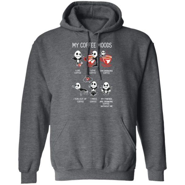 Jack Skellington Halloween My Coffee Moods T-Shirt