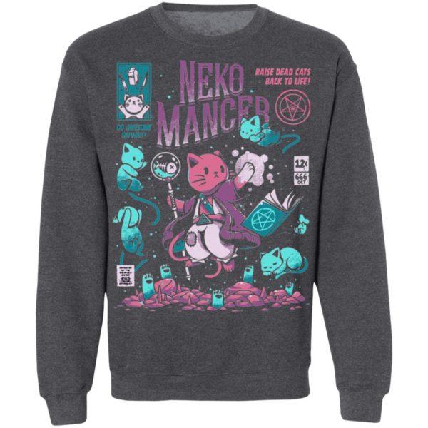 Halloween Neko Mancer Cat Necromancer T-Shirt