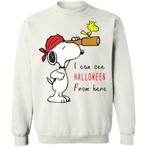 Snoopy And Woodstock I Can See Halloween From Here T-Shirt