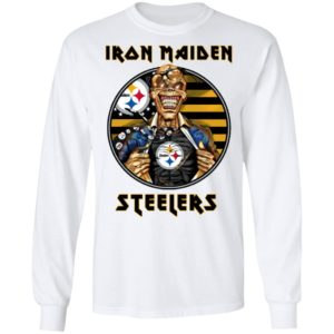 Pittsburgh Steelers Iron Maiden Halloween Football T-Shirt