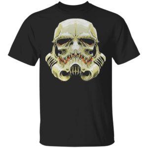 Stormtrooper Skull Face Horror Halloween T-Shirt