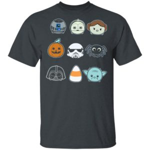 Round And Mini Faces Star Wars Halloween T-Shirt