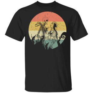 Halloween Town Jack Skellington And Sally Vintage T-Shirt