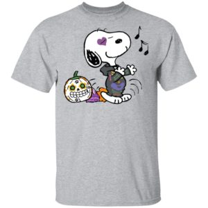 Singing Snoopy Calavera Halloween T-Shirt