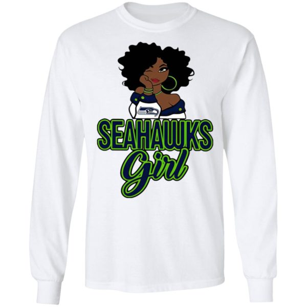 Black Girl Seattle Seahawks Shirt