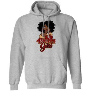 Black Girl San Francisco 49ers Shirt