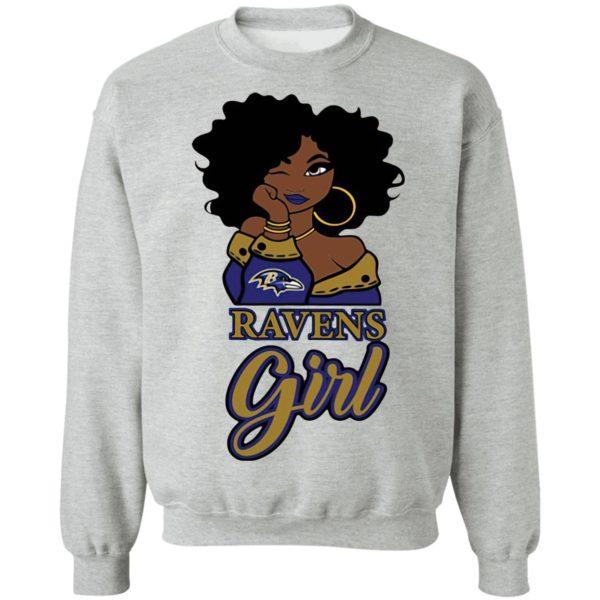 Black Girl Baltimore Ravens Shirt
