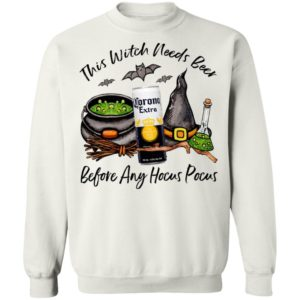 Corona Can This Witch Needs Beer Before Any Hocus Pocus T-Shirt