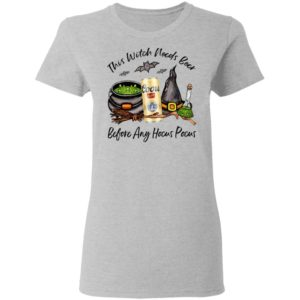 Coors Original Can This Witch Needs Beer Before Any Hocus Pocus T-Shirt