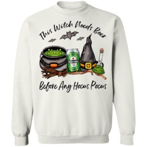 Heineken Can This Witch Needs Beer Before Any Hocus Pocus T-Shirt