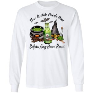 Heineken Bottle This Witch Needs Beer Before Any Hocus Pocus T-Shirt
