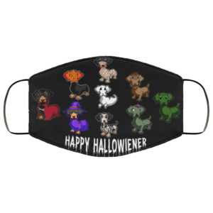 Happy Halloweenie Dachshund Face Mask