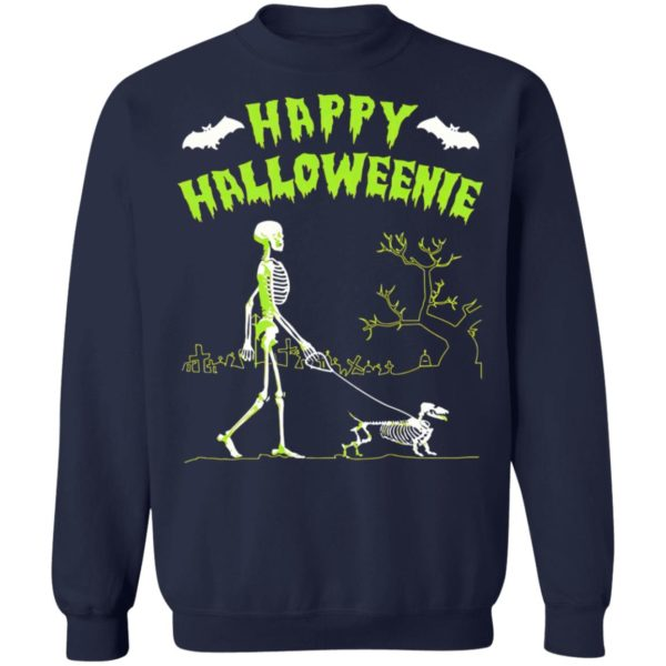 Skeleton Happy Halloween Dog T-Shirt