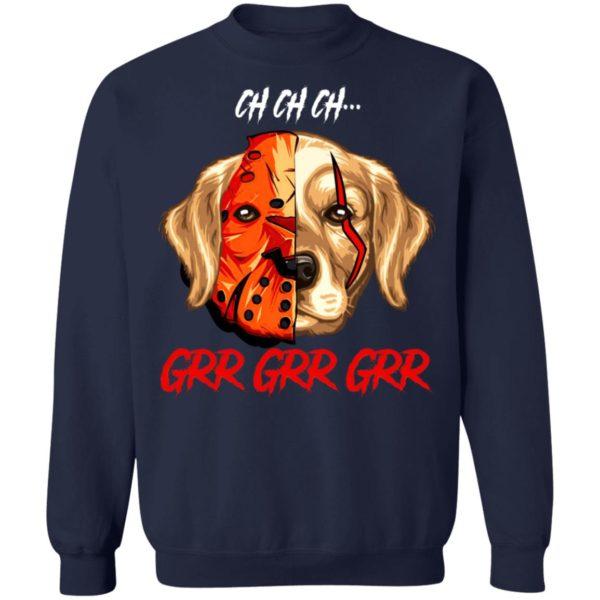 Jason Voorhees Pug Ch Ch Ch Grr Grr Grr Halloween T-Shirt