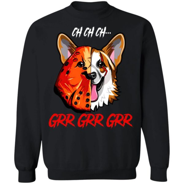 Jason Voorhees Corgi Ch Ch Ch Grr Grr Grr Halloween T-Shirt
