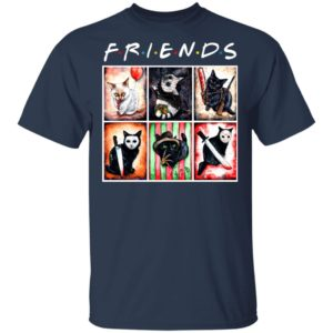 Cat Horror Friends Halloween T-Shirt