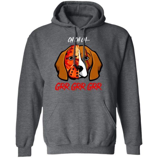 Jason Voorhees Beagle Ch Ch Ch Grr Grr Grr Halloween T-Shirt
