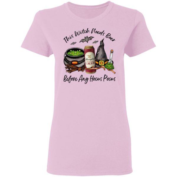 Yuengling Can This Witch Needs Beer Before Any Hocus Pocus Halloween T-Shirt