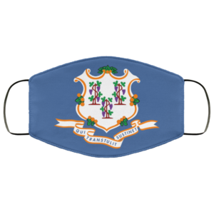 Flag of Connecticut state Cloth Face Mask Reusable