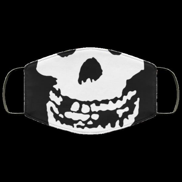 The Misfits Punk Rock Skull Phantom Freak Logo Face Mask Punk Rock and Roll