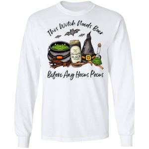 Yuengling Black Tan Can This Witch Needs Beer Before Any Hocus Pocus Halloween T-Shirt
