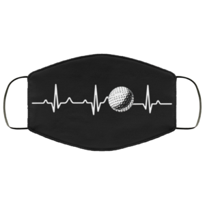 Golf Heartbeat Face Masks Fathers Day Gift Golf Dad Face Mask