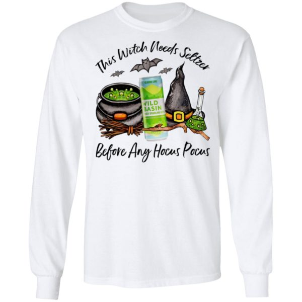 Wild Basin Classic Lime This Witch Needs Seltzer Before Any Hocus Pocus Halloween T-Shirt