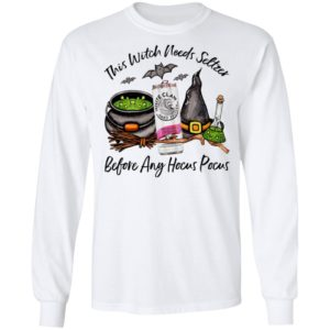 White Claw Black Cherry This Witch Needs Seltzer Before Any Hocus Pocus Halloween T-Shirt
