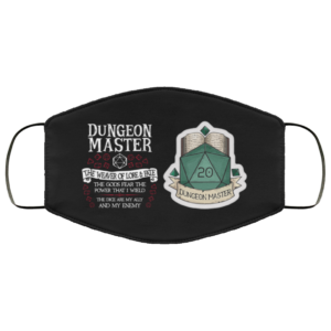Dungeons Master DD Choose Your Class Dungeons Dragons Face Mask