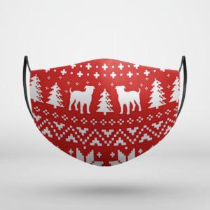American Bulldog Ugly Christmas Face Mask