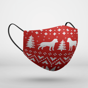 American Staffordshire Terrier Dog Ugly Christmas Face Mask