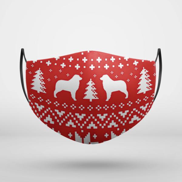 Australian Shepherd Dog Ugly Christmas Face Mask