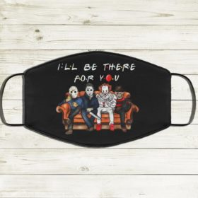 Horror Characters Movies I'll Be There For You Halloween Face Mask