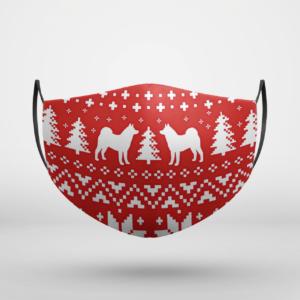 Akita Dog Ugly Christmas Face Mask