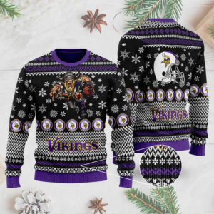 Minnesota Vikings Ugly Christmas Sweater 3D