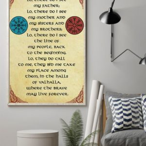 Viking Lo There Do I See My Father Lo There Do I See My Mother Vintage Poster, Canvas