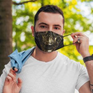 Victorian Steampunk Skull Halloween Face Mask