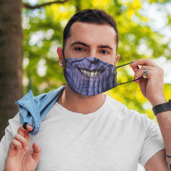 Thanos Smile Marvel Halloween Face Mask