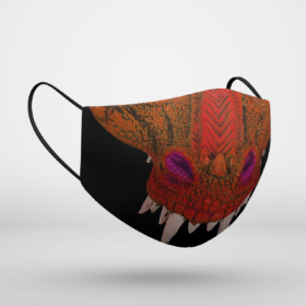 Red Dragon Halloween Face Mask