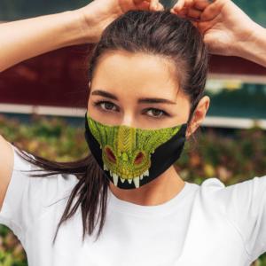 Green Dragon Halloween Face Mask