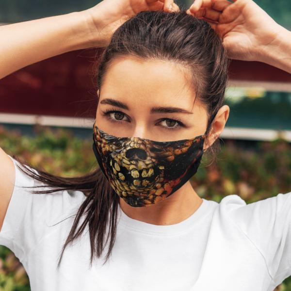 Scary Burn Corn Ghost Halloween Face Mask