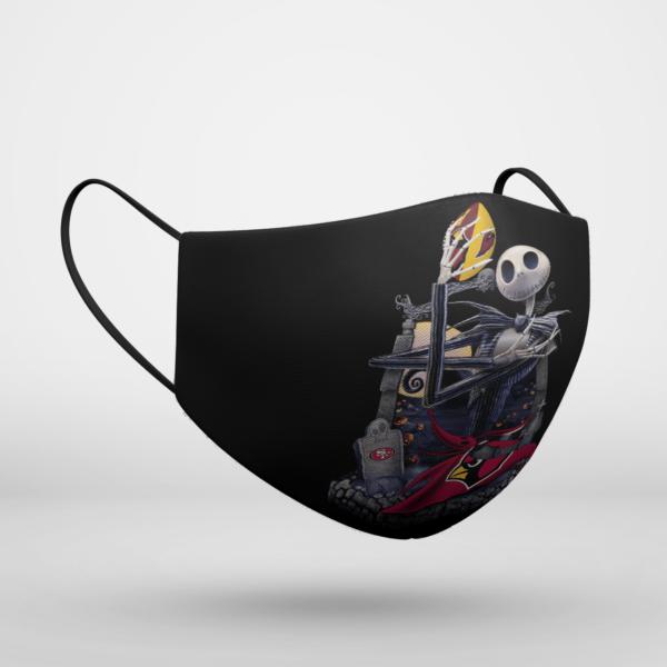 Arizona Cardinals Jack Skellington Halloween Face Mask