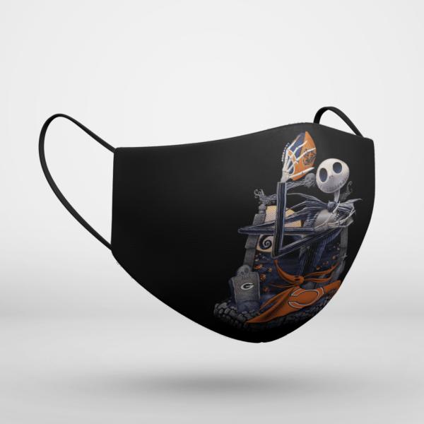 Chicago Bears Jack Skellington Halloween Face Mask