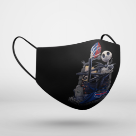 Buffalo Bills Jack Skellington Halloween Face Mask