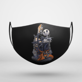Cincinnati Bengals Jack Skellington Halloween Face Mask