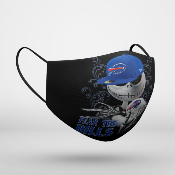 Fear The Buffalo Bills Jack Skellington NFL Halloween Face Mask