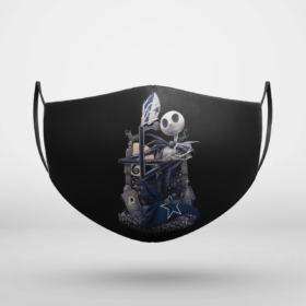 Dallas Cowboys Jack Skellington Halloween Face Mask