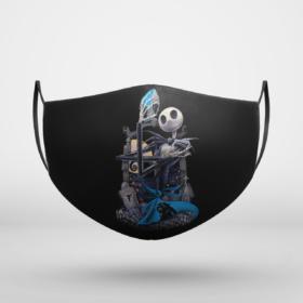 Carolina Panthers Jack Skellington Halloween Face Mask